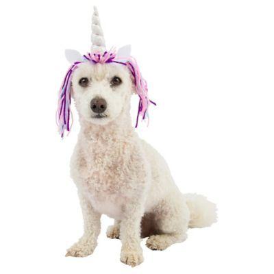Dog Unicorn Horn Size XS/SM Halloween Costume Multi-Colored