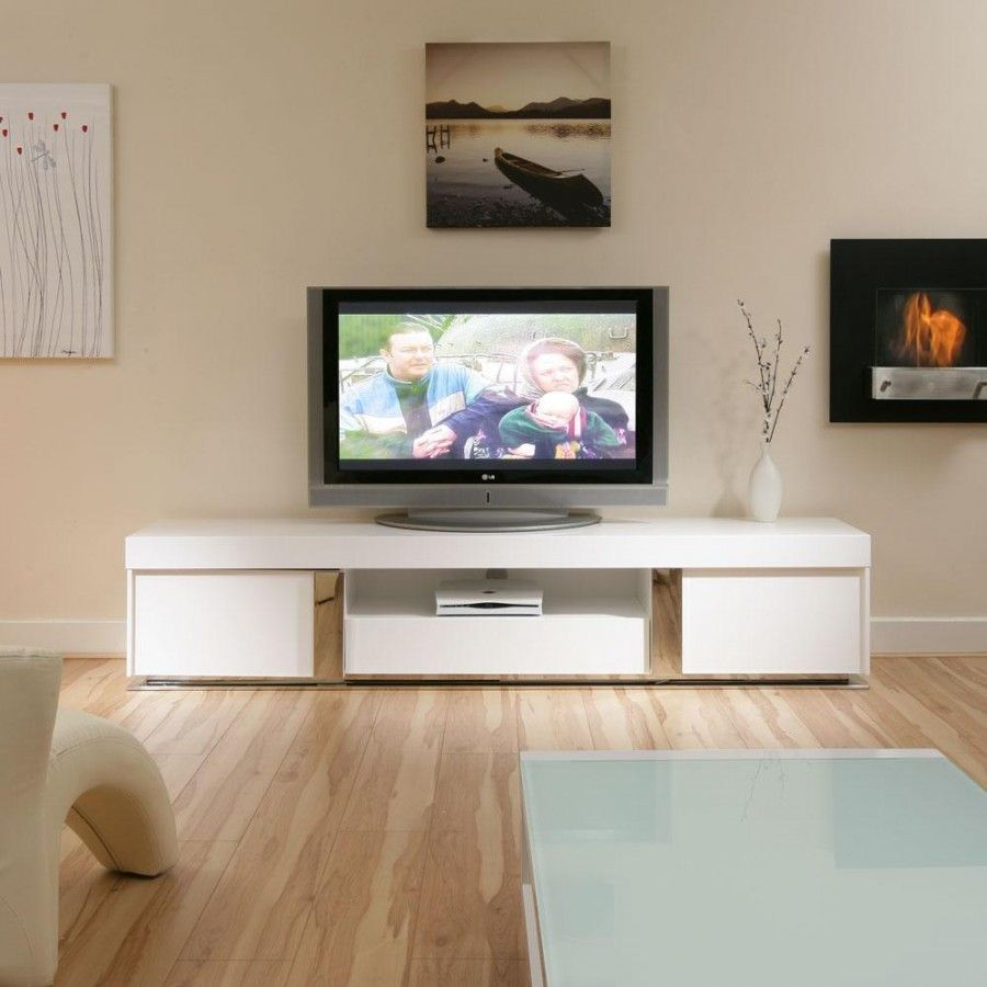 LARGE TV Television Cabinet Entertainment Unit Center White gloss  Living Room CabinetsLiving