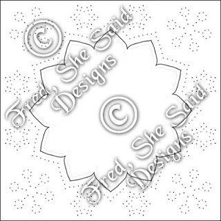 Snowflake Paper Pricking Pattern Paper Snowflake Patterns Card