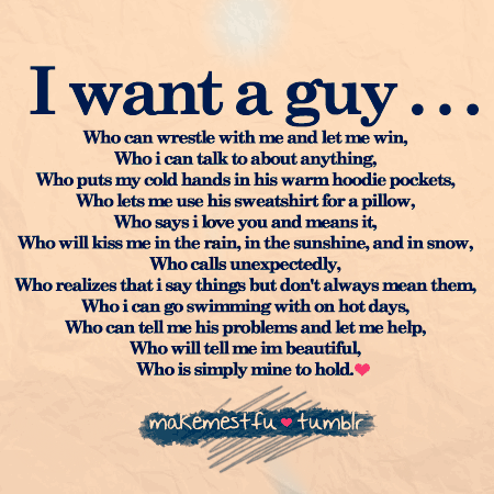 half perfect boyfriend list, not me but might be others ...