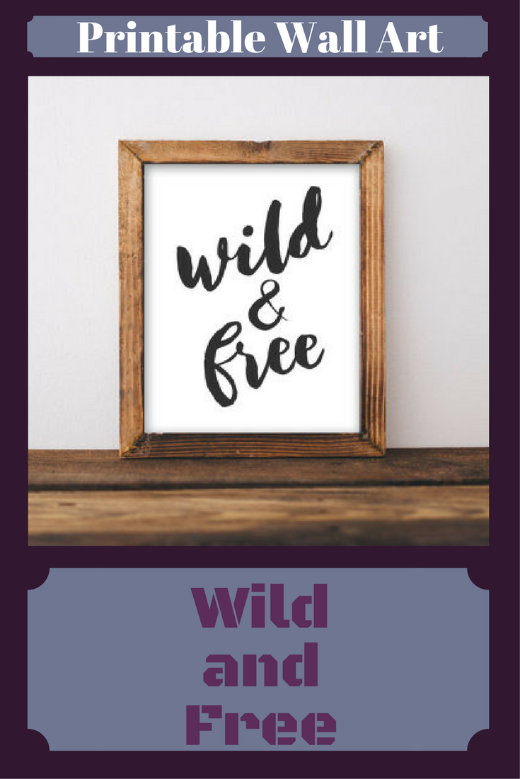 Nursery Printable Wall Art Wild And Free Quote Black White Decor Tribal Arrow Print Home Affiliate