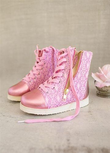 5c1bf6f1062 Joyfolie - Mila Sneakers in Bubble Gum Pink