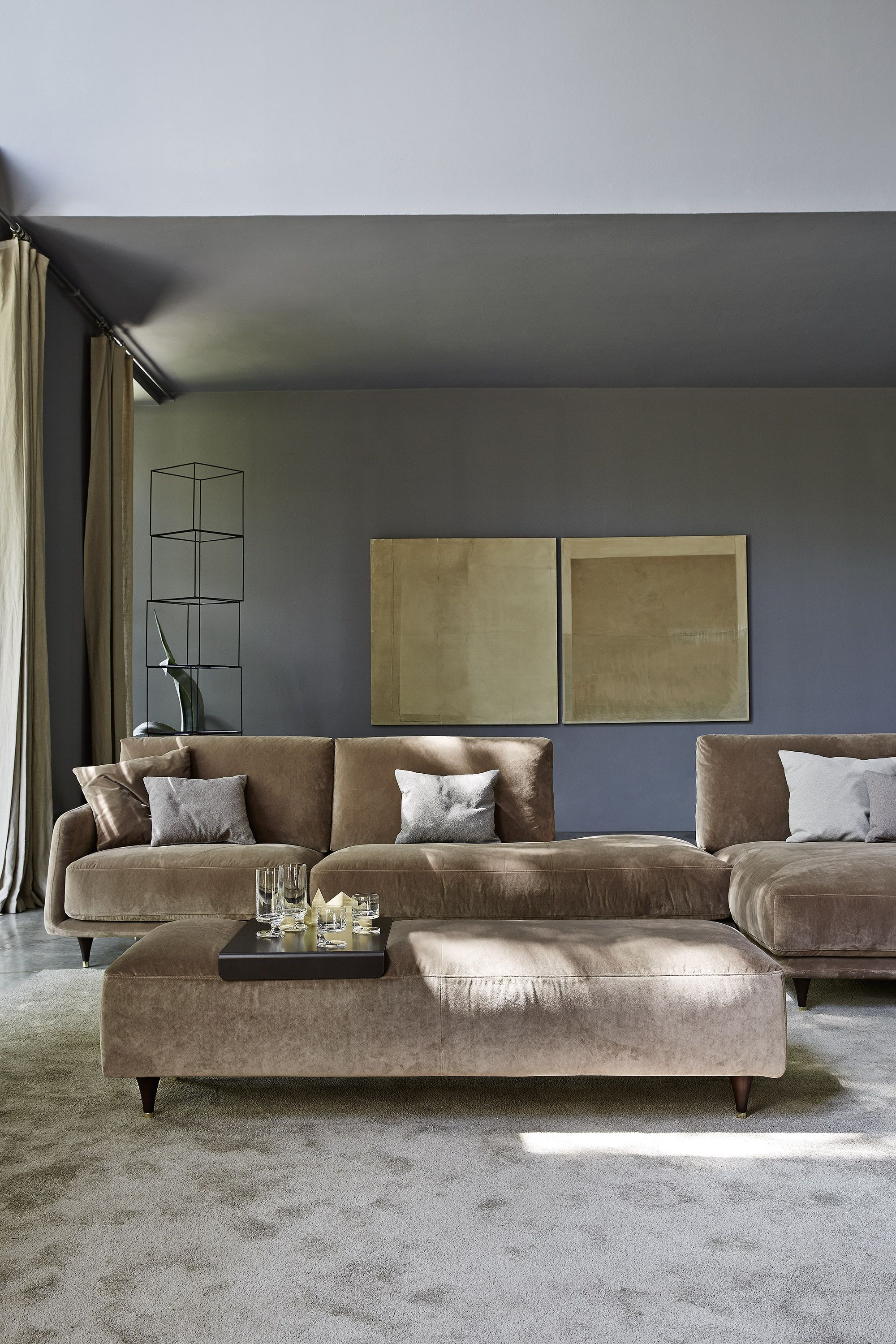 If Youu0026 In The Market For A Sofa, Elliot, From Ditre Italia Is The Perfect  Blend Of Modern And Cozy With Its Sophisticated Lines And Overstuffed  Cushions.