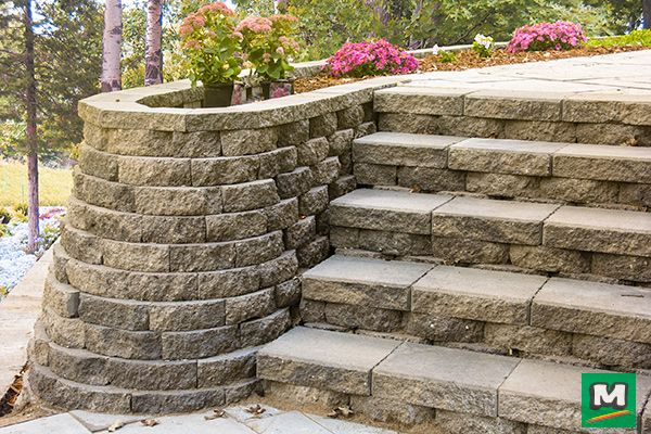 Pin By Menards On For The Home Garden Retaining Wall Retaining Wall Landscaping Inspiration