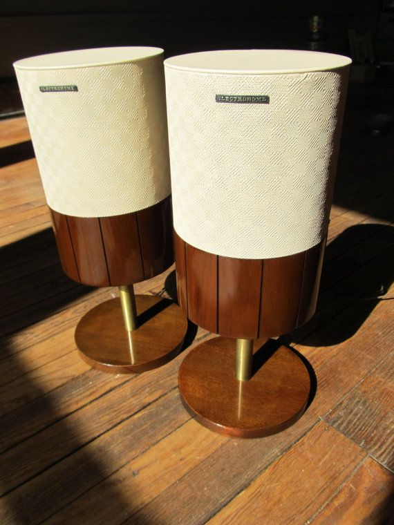 Electrohome Stereo Speakers Mid Century Modern By
