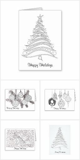 Holiday Greetings To Color Christmas Coloring Cards Print Christmas Card Diy Holiday Cards