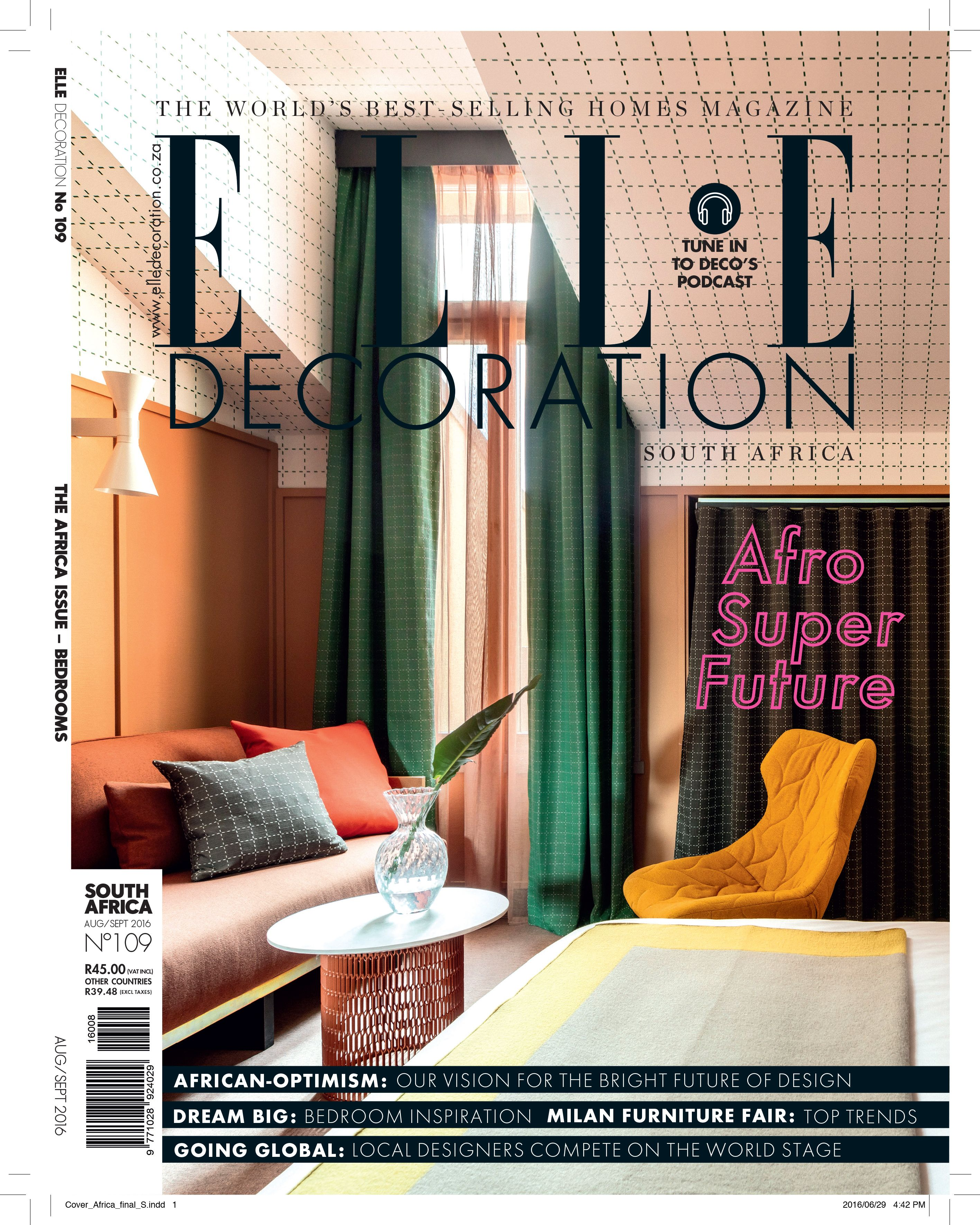 Elle Decoration South Africa Elle Decoration South Africa Issue 109 Editor Bielle