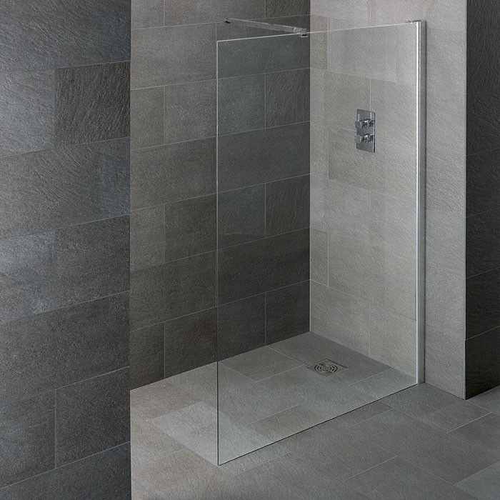 SHOWER10 Wet Room Glass Shower Panel Only (10MM Glass) 1200mm Wide ...