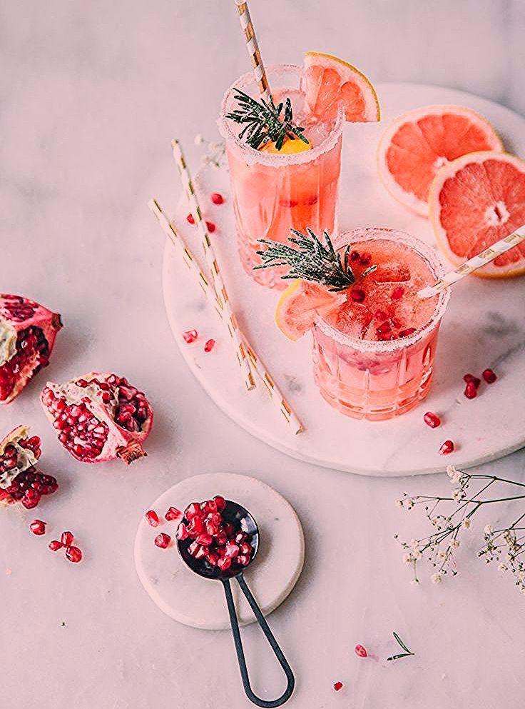 Photo of Grapefruit Granatapfel Mocktail – Alkoholfreier Cocktail ohne Zucker.