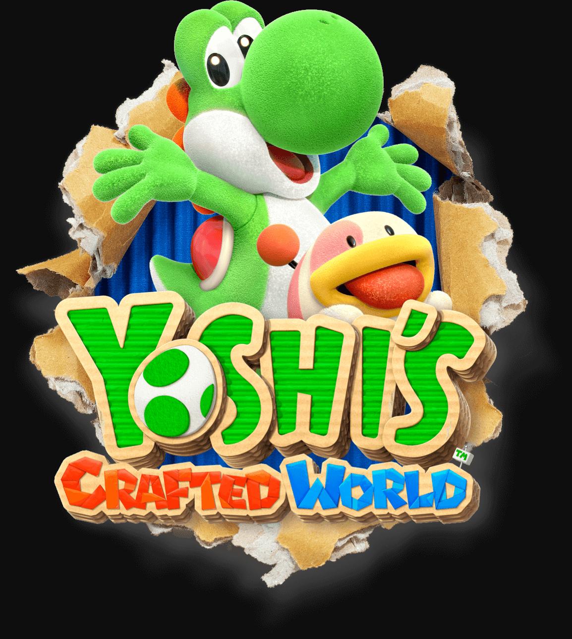 Yoshi's Crafted World game logo. em 2020 Ganga