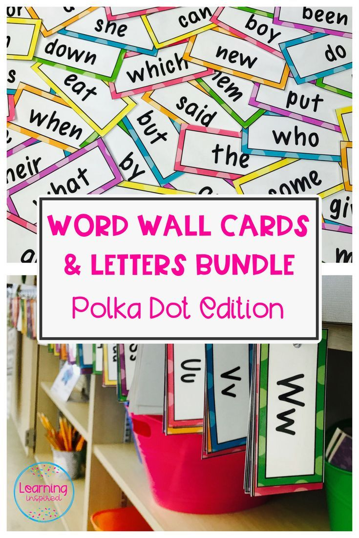 Word Wall Letters Endearing Word Wall Cards And Letters Bundle Polka Dot Edition **editable Design Inspiration