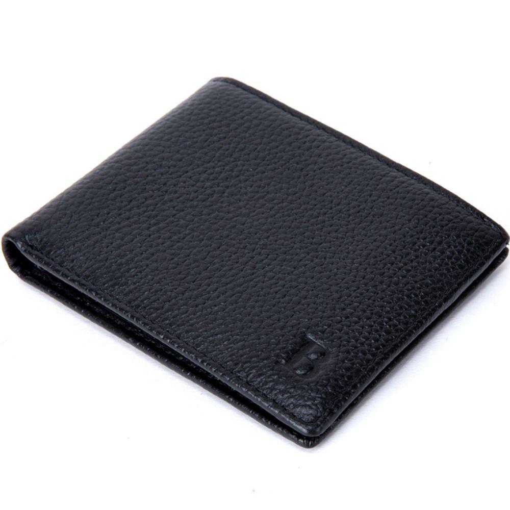 Buy man wallet genuine leather flip clip