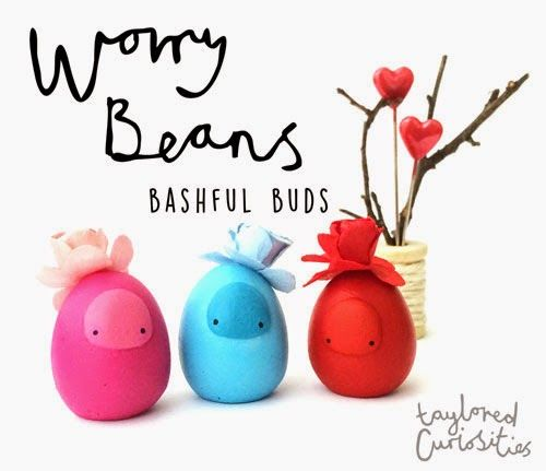 TOYSREVIL: Valentine Worry Beans from Taylored Curiosities
