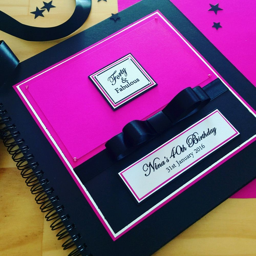 PERSONALISED GUEST BOOK 40th, 30th, Wedding, Engagement, 21st, Baby Shower, Hens