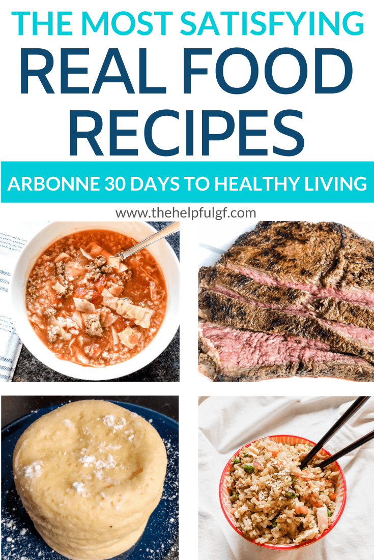 Arbonne 30 Days to Healthy Living Meal Ideas - The Helpful GF