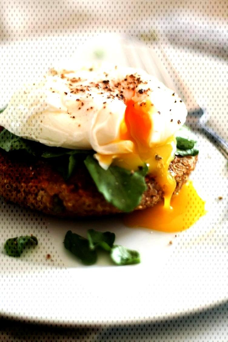 Breakfast Quinoa Recipes That'll Make You Forget All About Oatmeal -  20. Quinoa Cakes and Poache