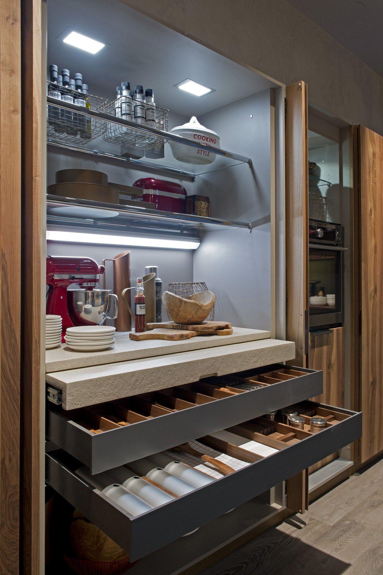 Einbauküche mit Kücheninsel FILOANTIS by Euromobil | Design Roberto ...