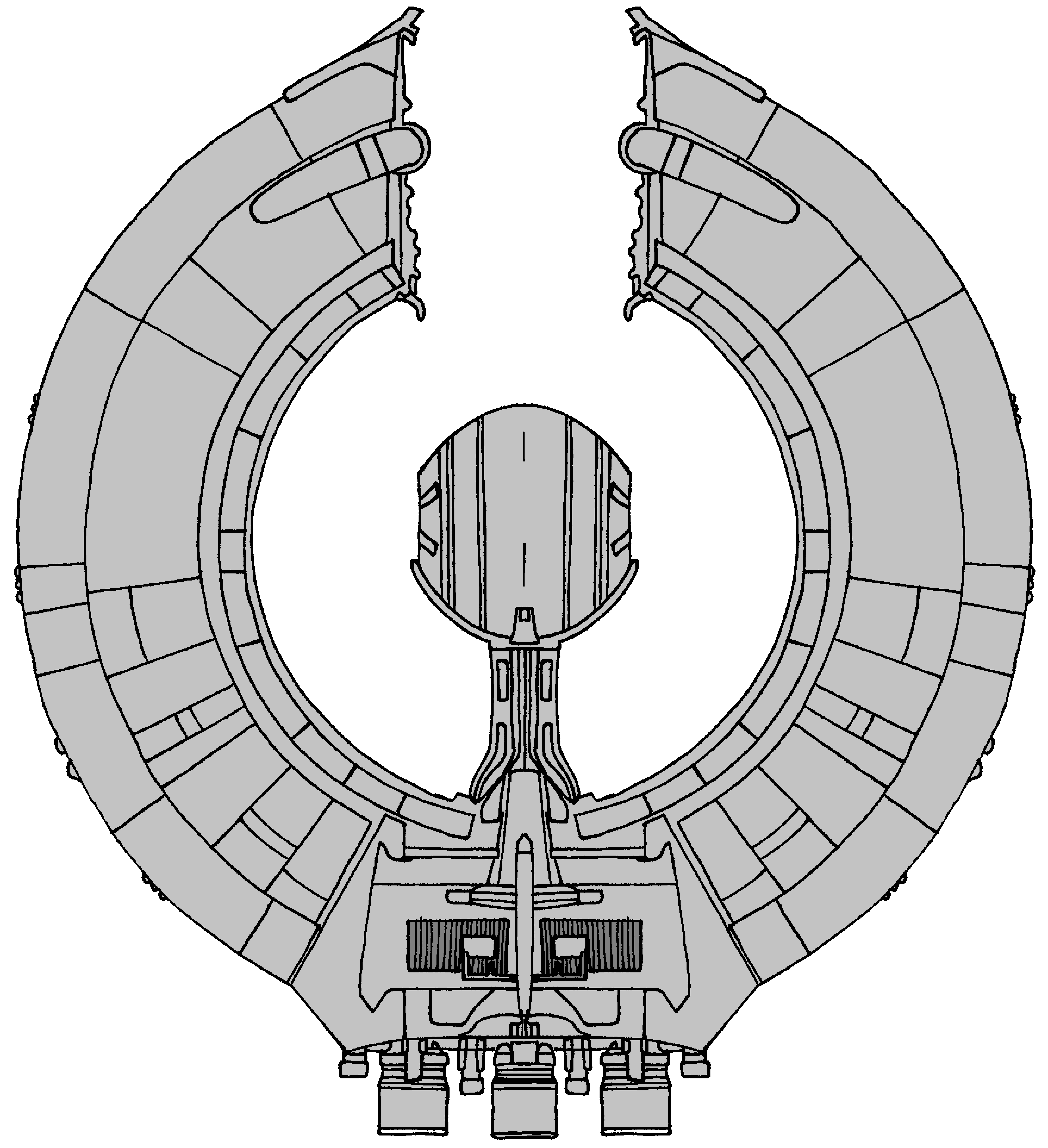 Space And Scifi Things With Zmodeler: Lucrehulk Class Battle Ship