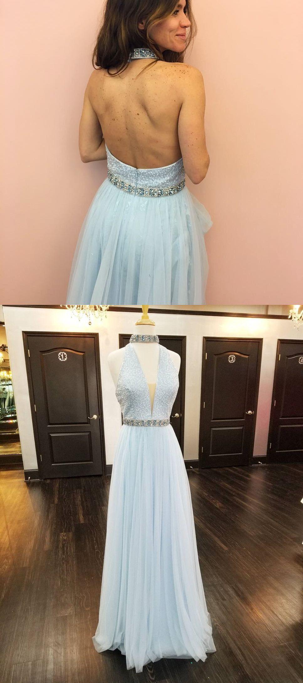 prom dress light sky blue prom dress long prom dress