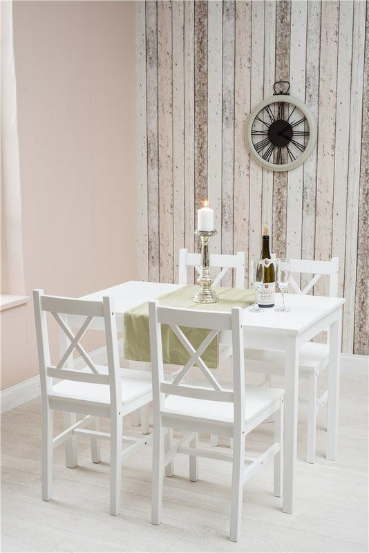 Burdick Solid Pine Wood Dining Set With 4 Chairs   Home Design   Pinterest    Pine, Dining And Woods