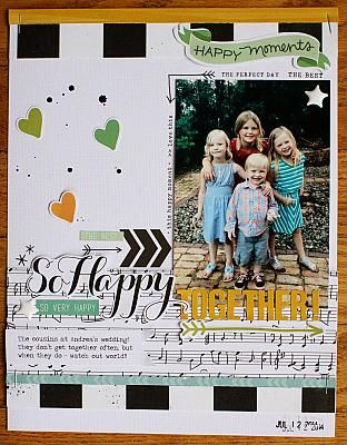 #papercraft #scrapbook #layout. So Happy Together