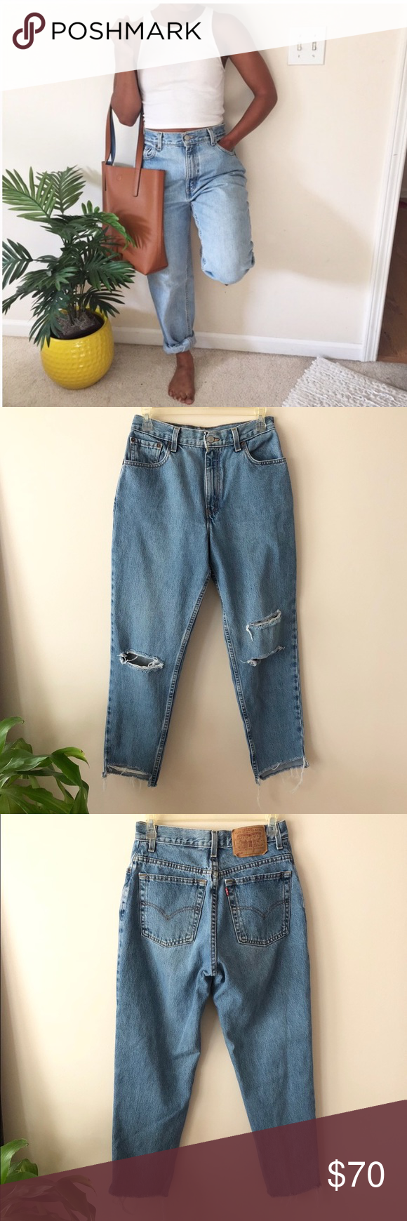 Vintage Levi's 550 High Rise Mom Jeans Vintage Levi's 550