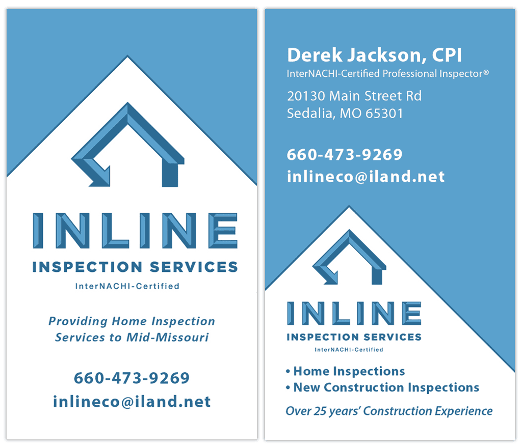 Inline Inspection Services Business Blog Business Card Logo Inline
