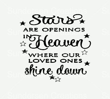 Download Stars are openings in heaven where our loved ones shine ...