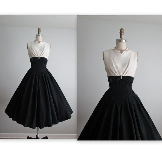 50's Cocktail Dress // Vintage 1950's Glam by TheVintageStudio