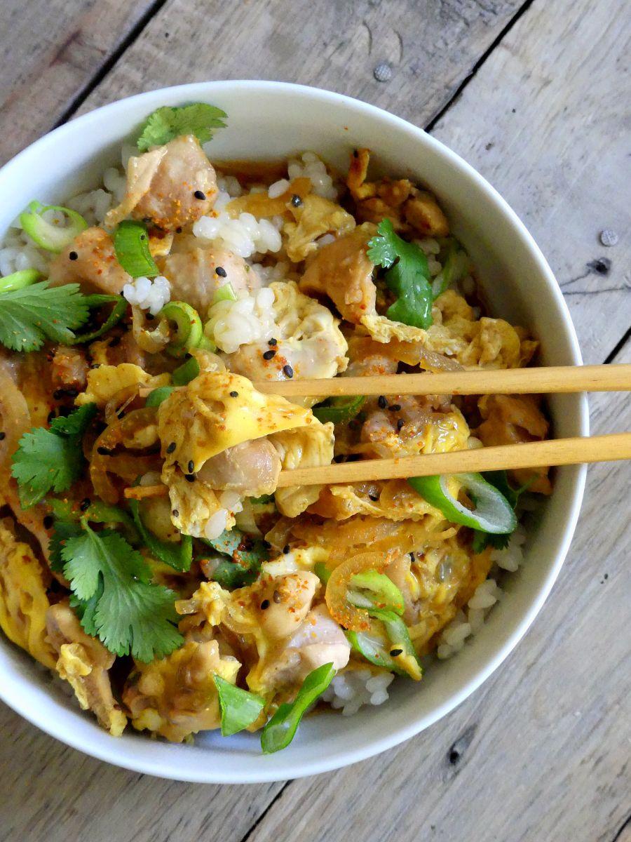Oyakodon {Bol de riz, poulet, œuf}