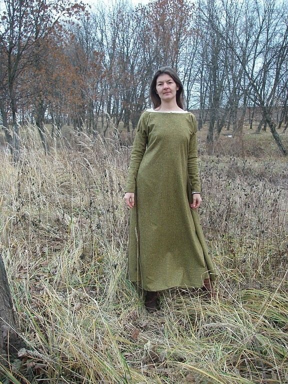 """Купить Платье """"Поздняя осень"""" - длинное платье, шерсть, оливковый, однотонный, горчичный, сделай сам"""
