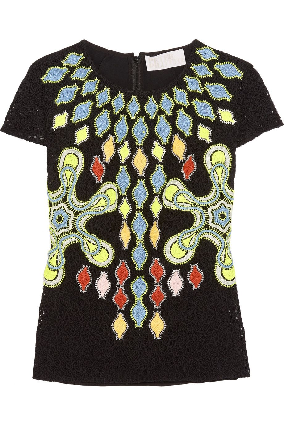 PETER PILOTTO Solitaire broderie anglaise wool-blend top. #peterpilotto #cloth #top
