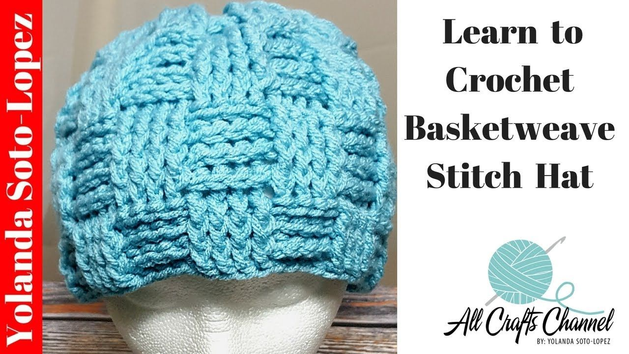 How to crochet a Basket weave stitch hat (Basketweave) Step-by-Step ...