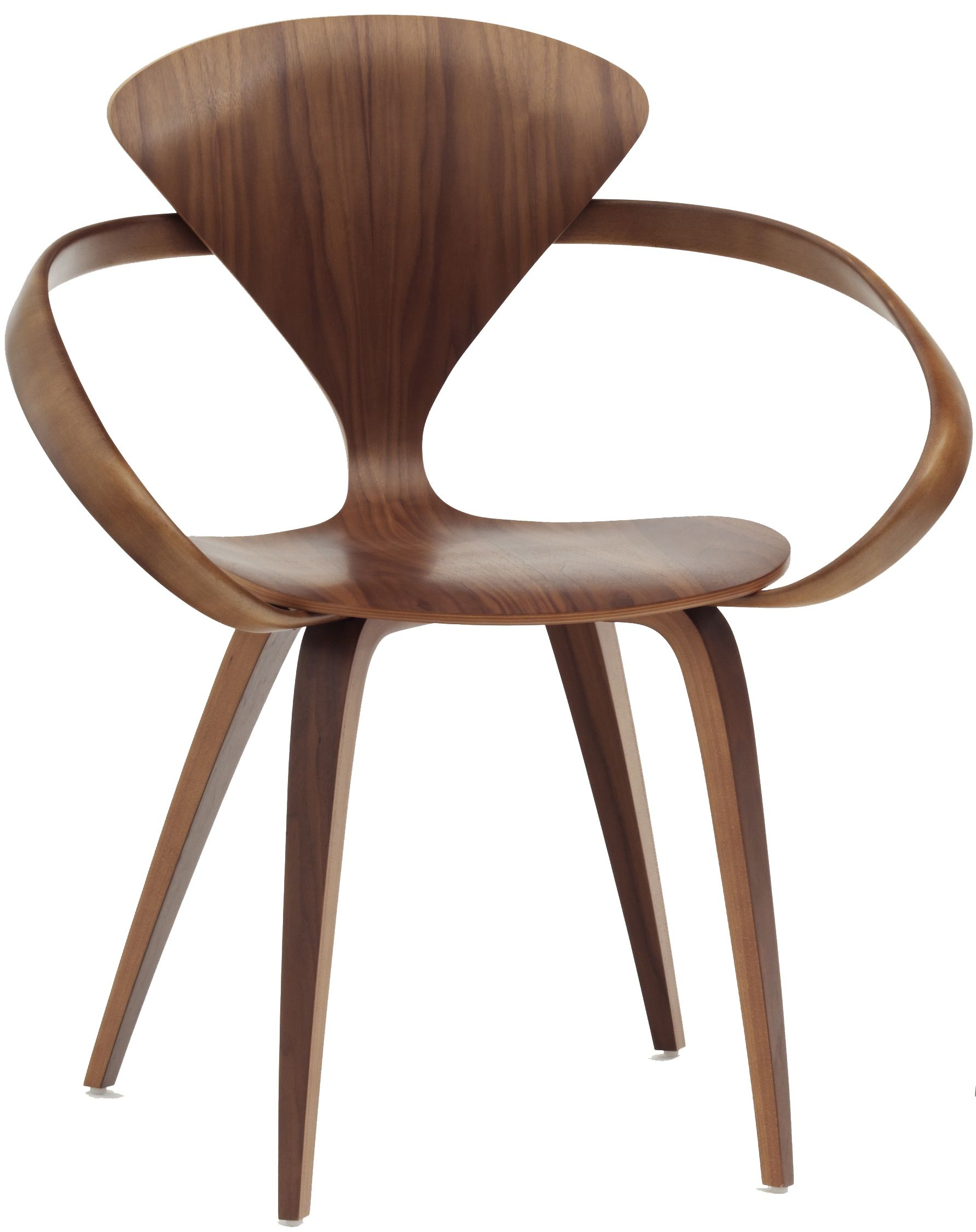Like the 1958 original the Cherner Armchair utilizes a laminated