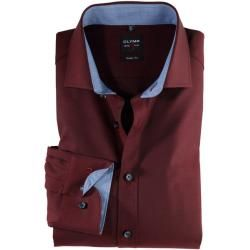 Photo of Camisa Olymp Level Five, ajuste do corpo, Royal Kent, vermelho escuro, 39 Olymp