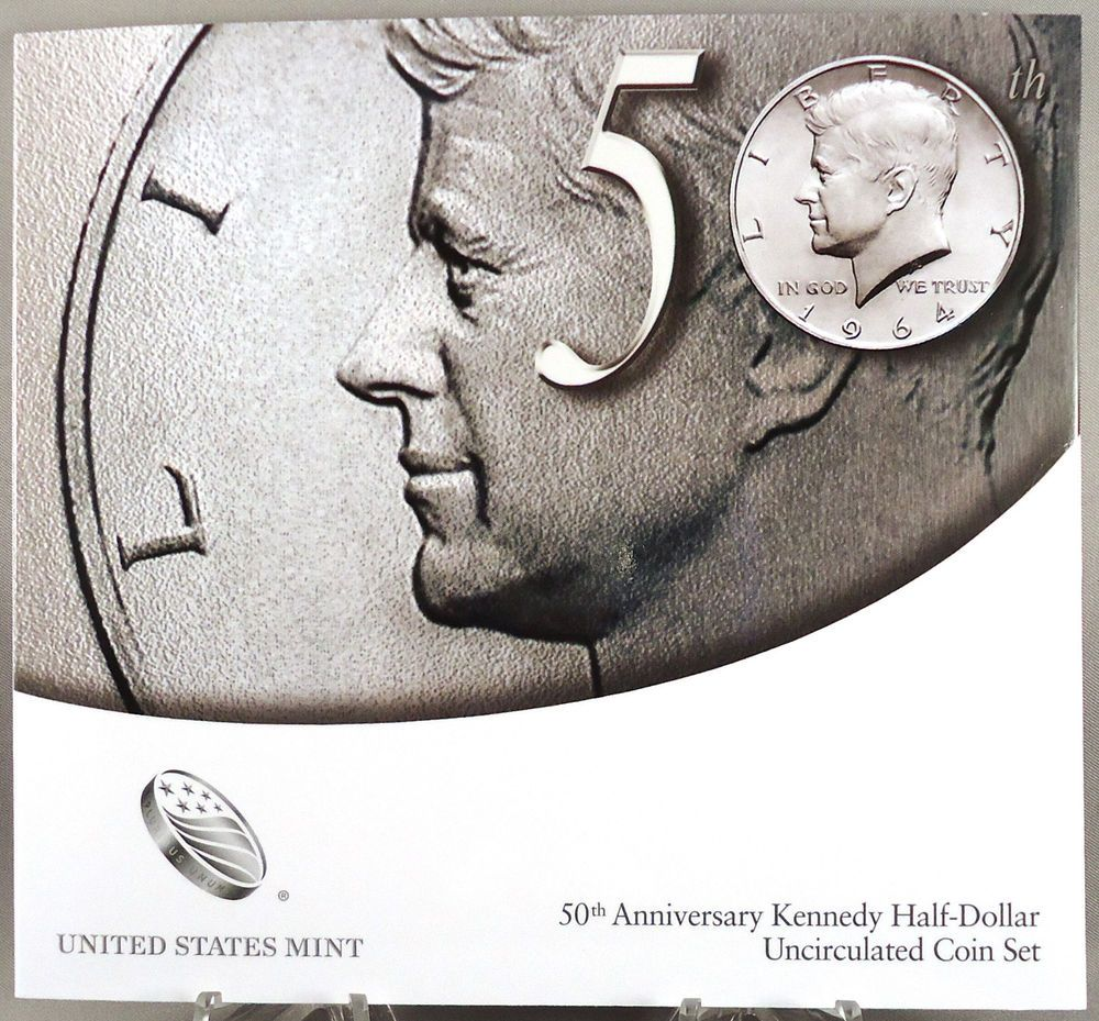 SEALED 2014 50th Anniversary Kennedy Half Dollar Coin Set