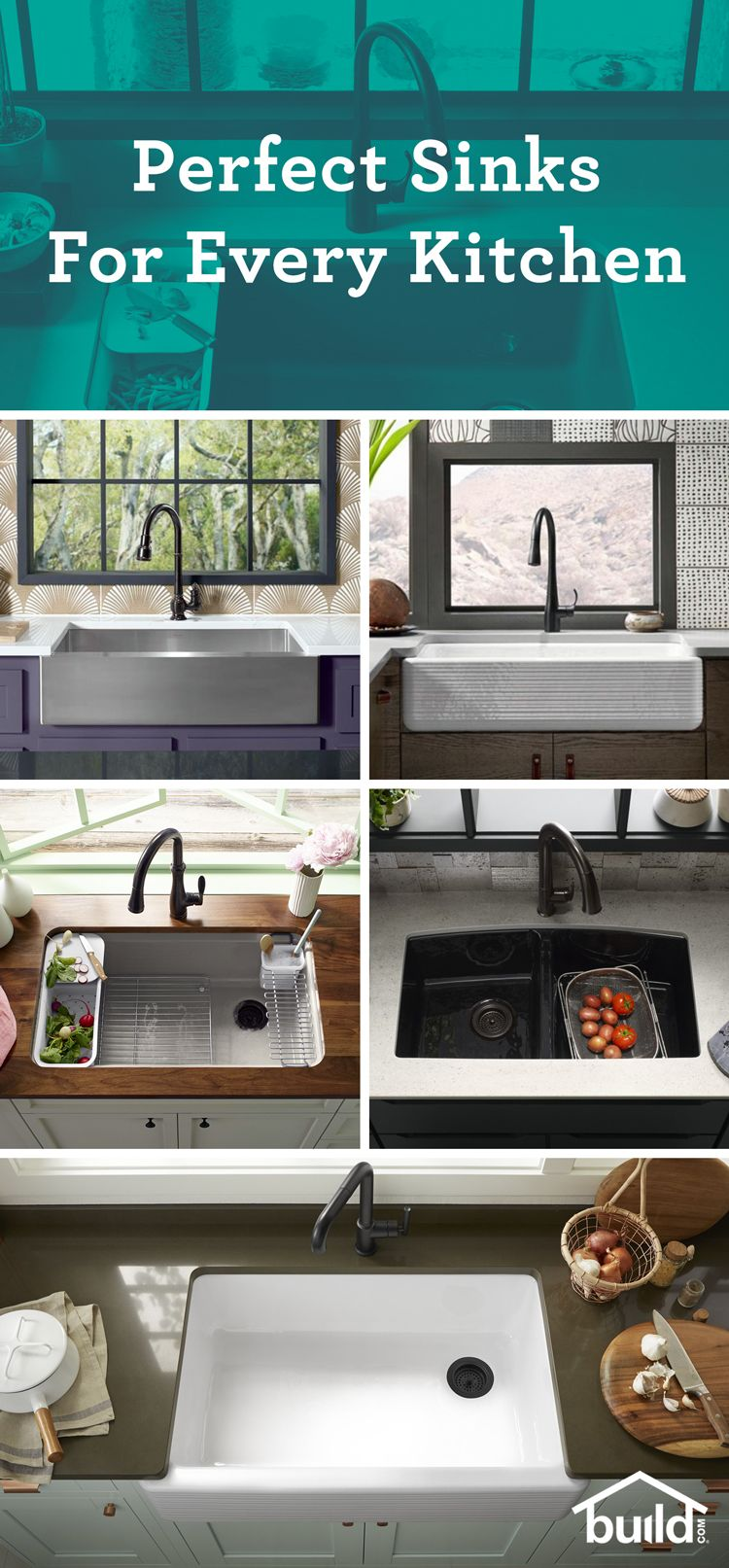 Find A Kitchen Sink At Build Com That Will Make Kitchen Tasks Easier Available In A Variety Of Materials An With Images Interior Design Kitchen Small Home Kitchen Remodel