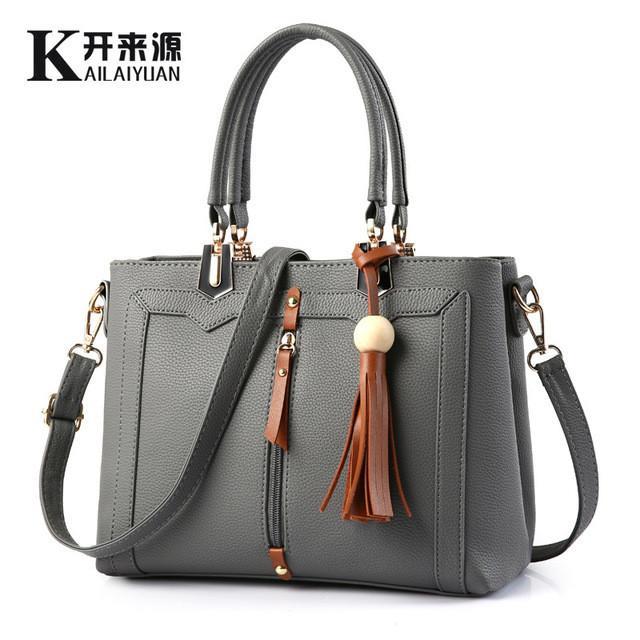 Women/'s Tassel Zip Shoulder Messenger Handbag//Ladies Faux Leather Crossbody Bag