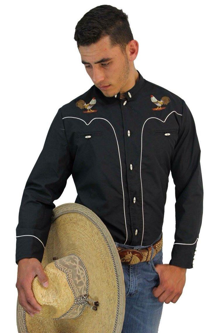 261a878d90 Camisa Charra Gallos