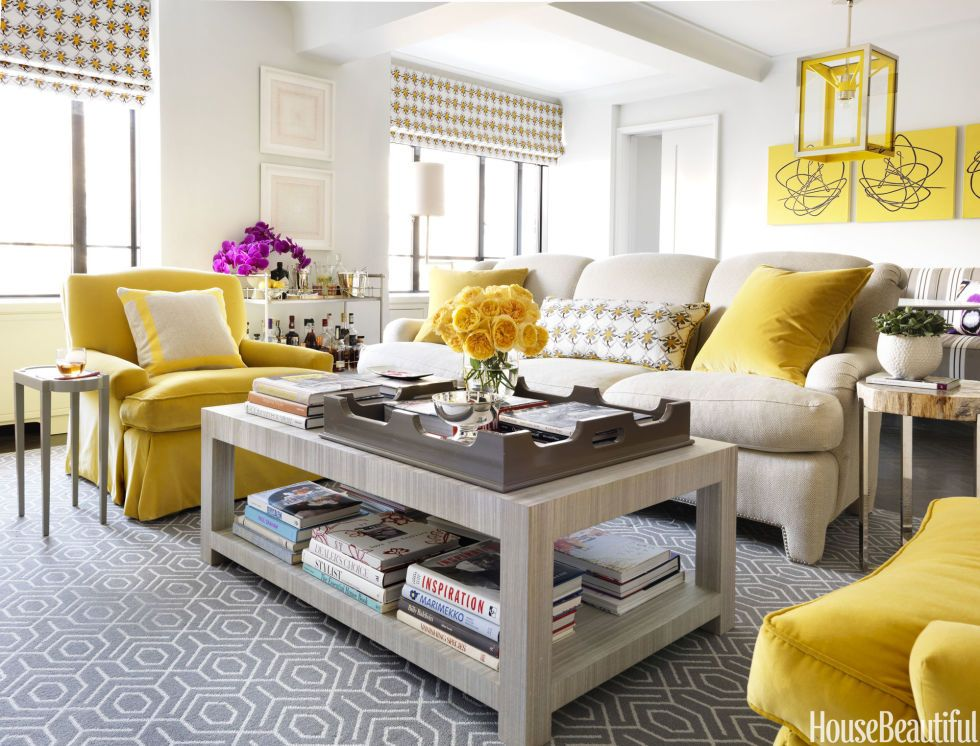 Merveilleux Yellow Living Room #homedecor #newyorkapartment