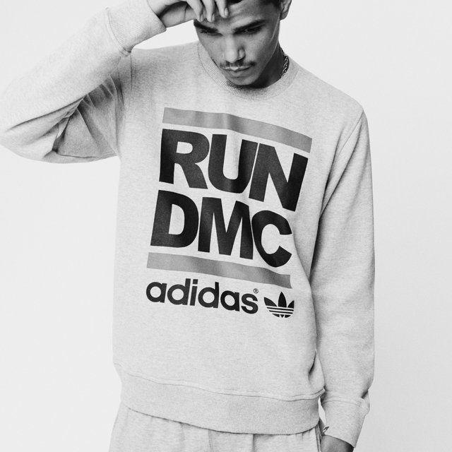 Adidas Originals Run DMC Hoodie (X Small Grey)