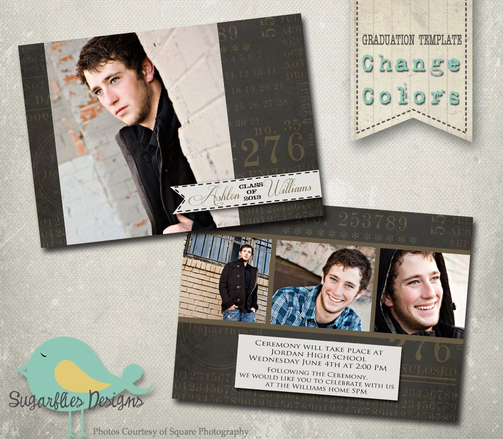 Graduation Announcement Templates - Senior Graduation 8. $8.00, via ...