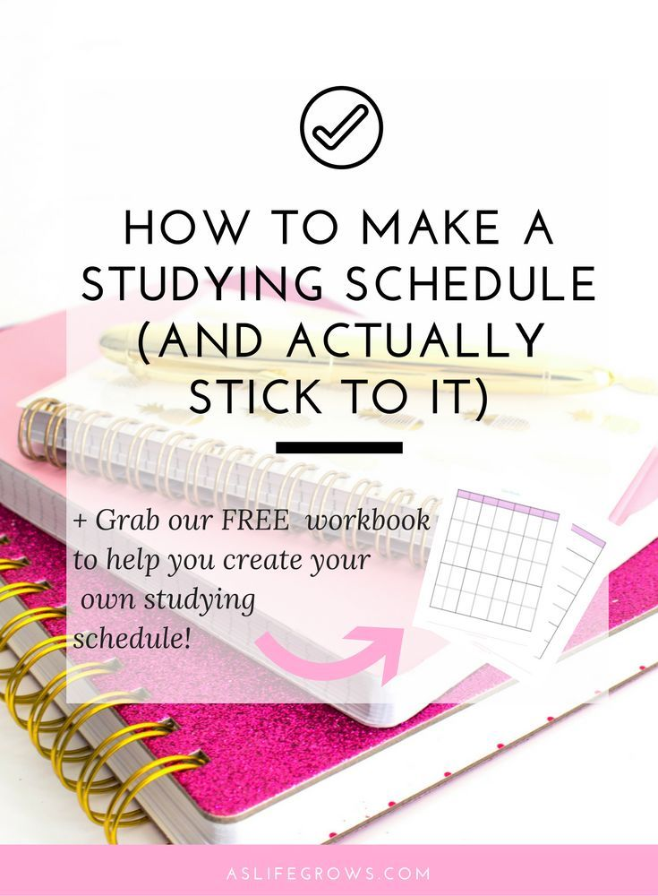 How to Make a Studying Schedule (and actually stick to it - study timetable