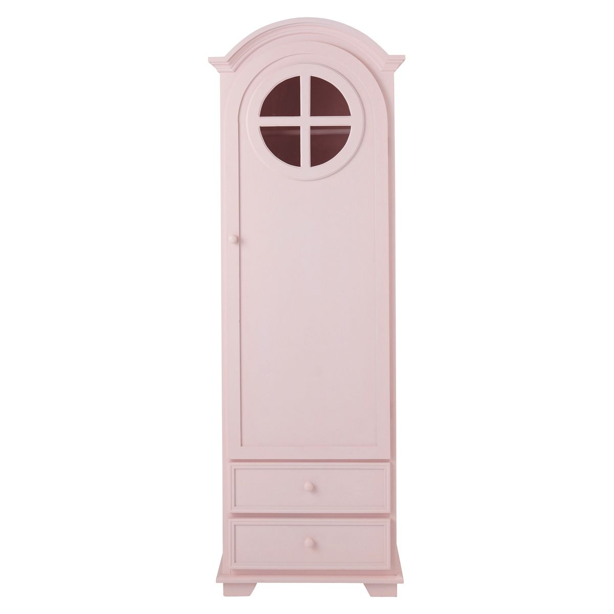 armoire bonneti re en bois rose l 62 cm armoires pastel et en bois. Black Bedroom Furniture Sets. Home Design Ideas