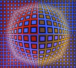 Vasarely is one of the earliest optical artists who helped guide ...
