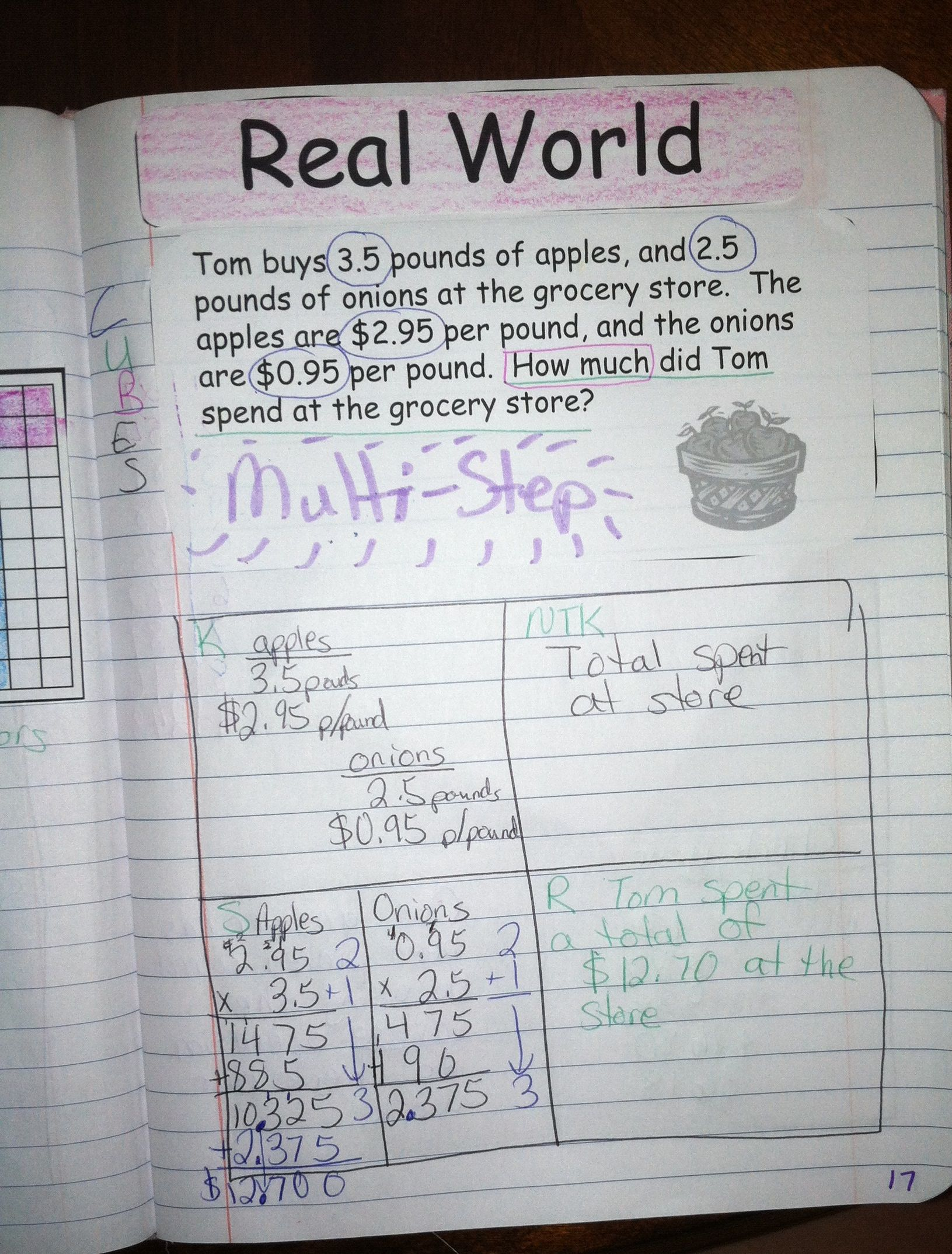 multiplying decimals interactive notebook foldable | melissa's 6th