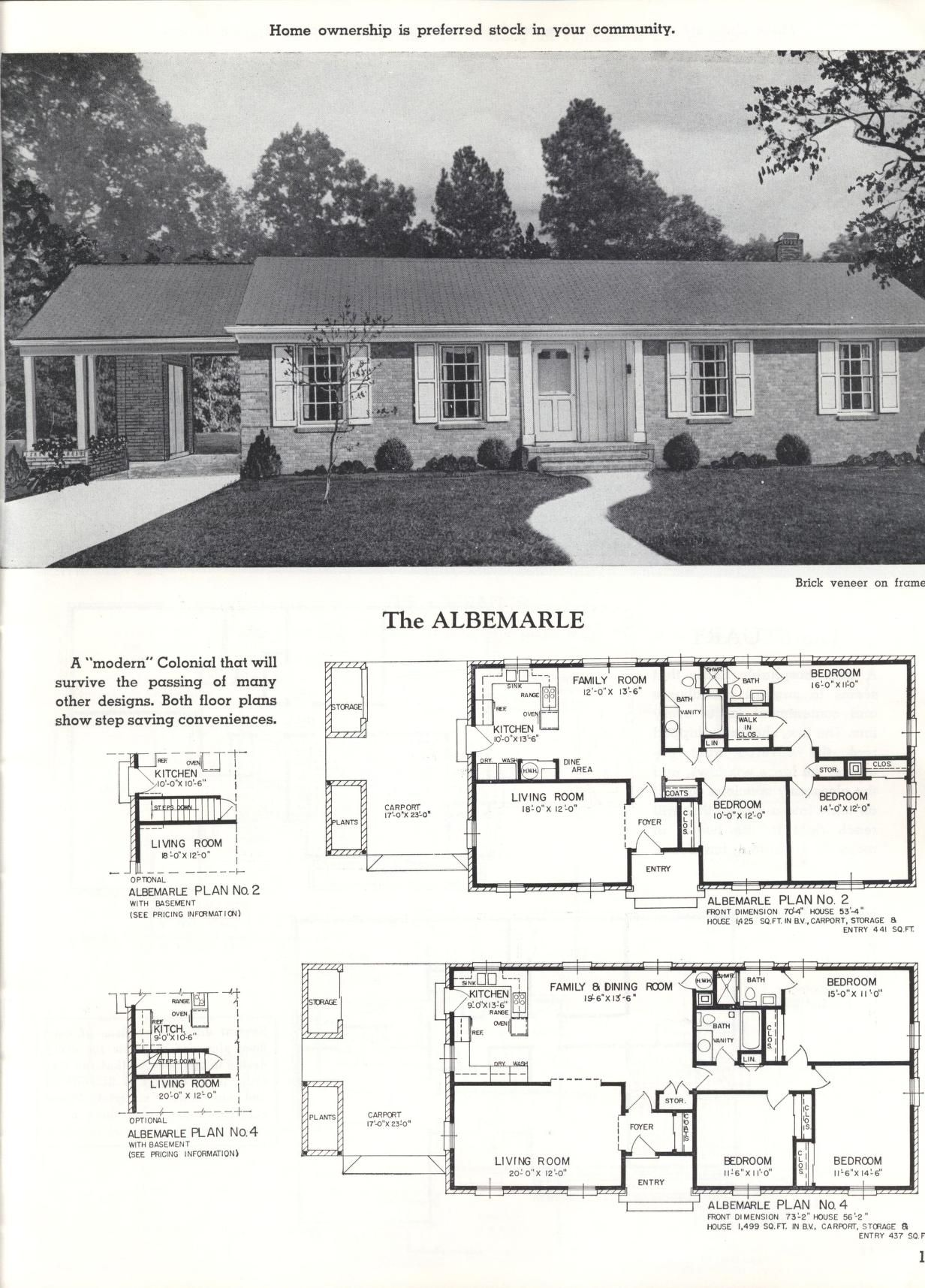 Better Homes At Lower Cost A 46 By Standard Homes Co The Albemarle Vintage House Plans Family House Plans House Floor Plans