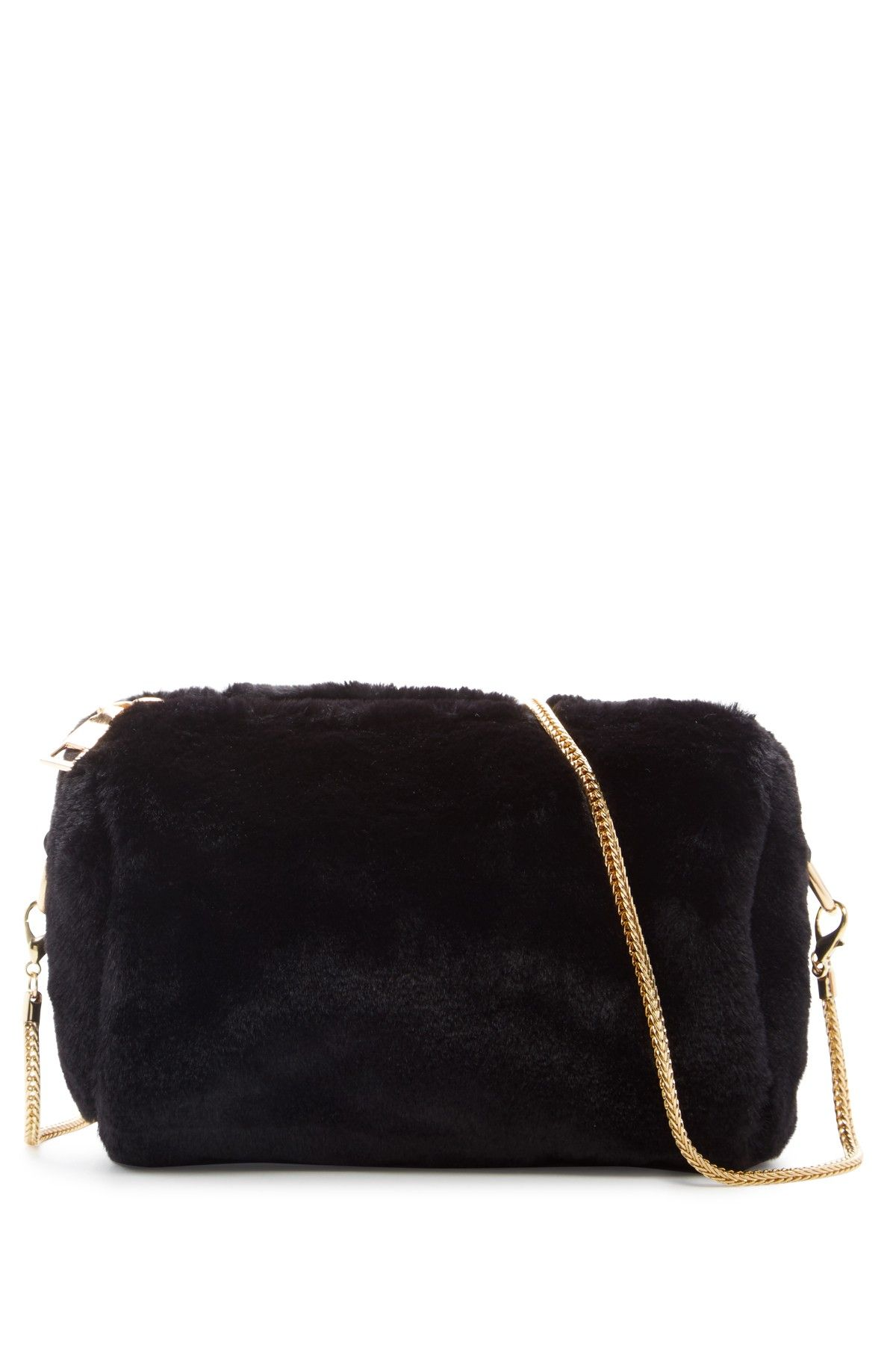 Pink Haley Valencia Faux Fur Crossbody Bag
