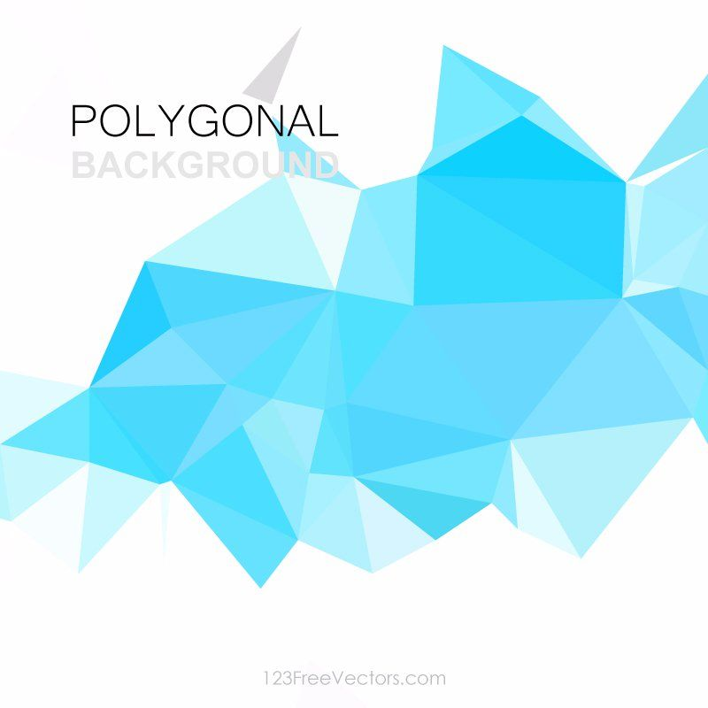 Sky Blue Abstract Geometric Polygon Background Vector