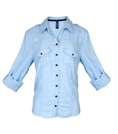 Camisa Azul | Estampado